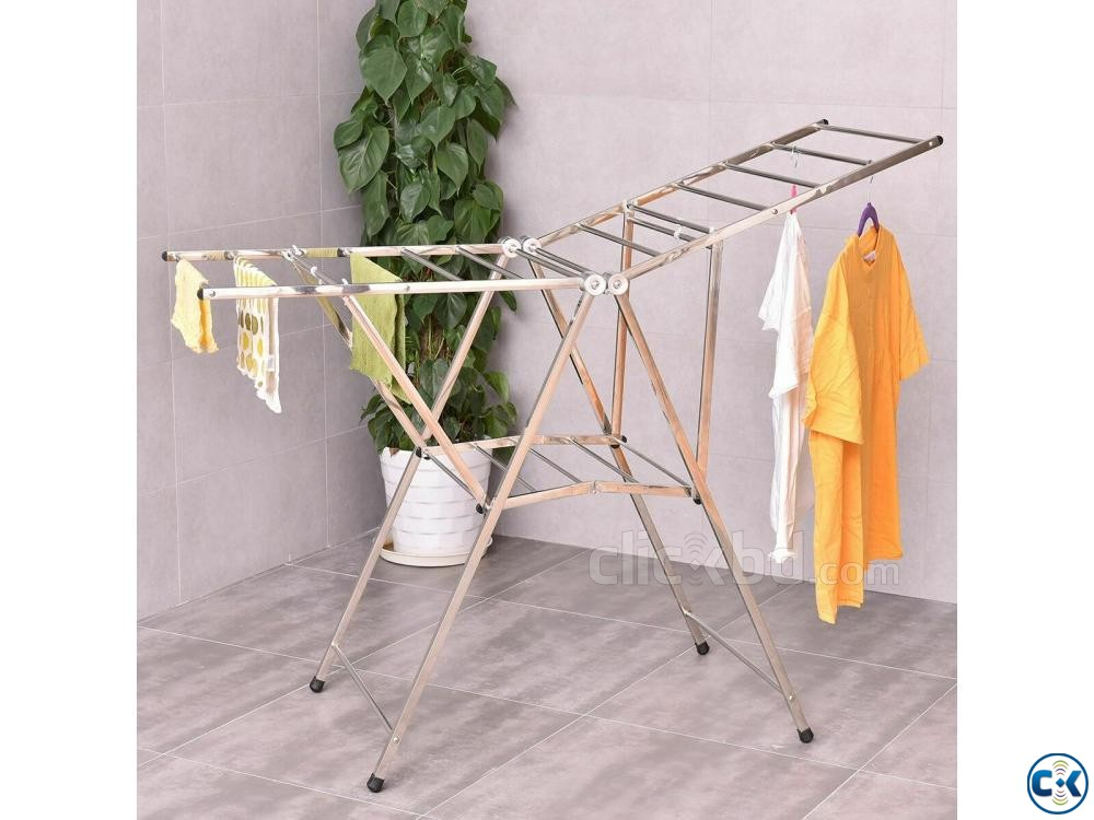 Portable Folding Clothes Drying Stand Clothes Dryer Rack | ClickBD large image 0