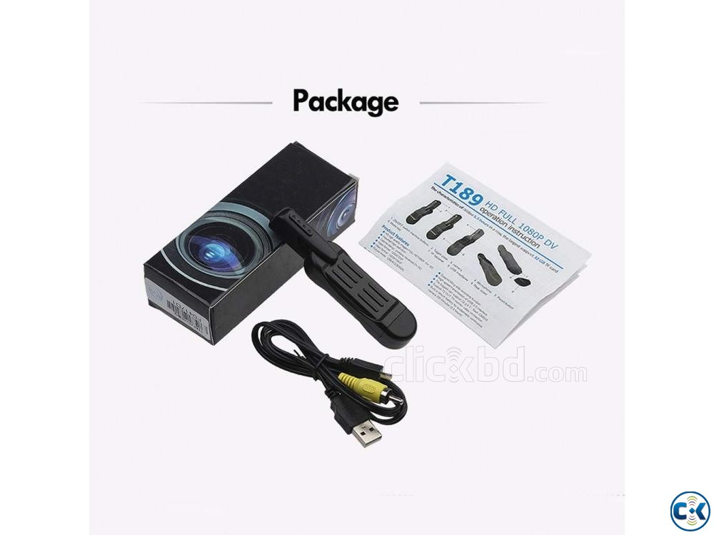 Spy Camera T189 Mini Camera Full HD 1080P | ClickBD large image 4