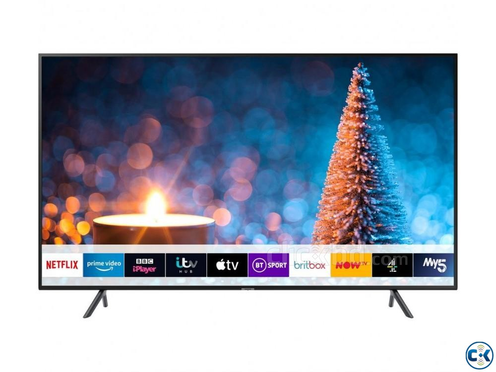 75 RU7100 Flat Smart 4K UHD TV Series 7 - Samsung | ClickBD large image 1
