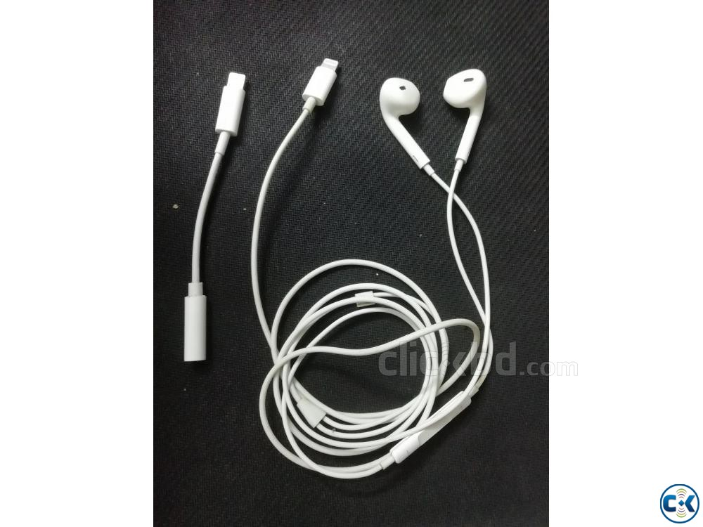 iPhone head phone original UK product white cable used | ClickBD large image 0