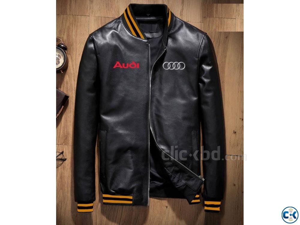 Artificial Leather Mens Winter Jacket | ClickBD large image 0