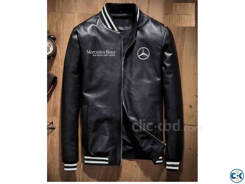 Artificial Leather Mens Winter Jacket | ClickBD large image 4