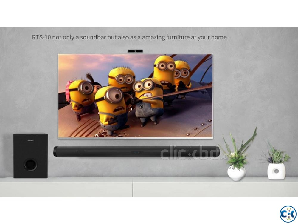Remax RTS-10 100.Watts Remote Control Soundbar Home Theater | ClickBD large image 0
