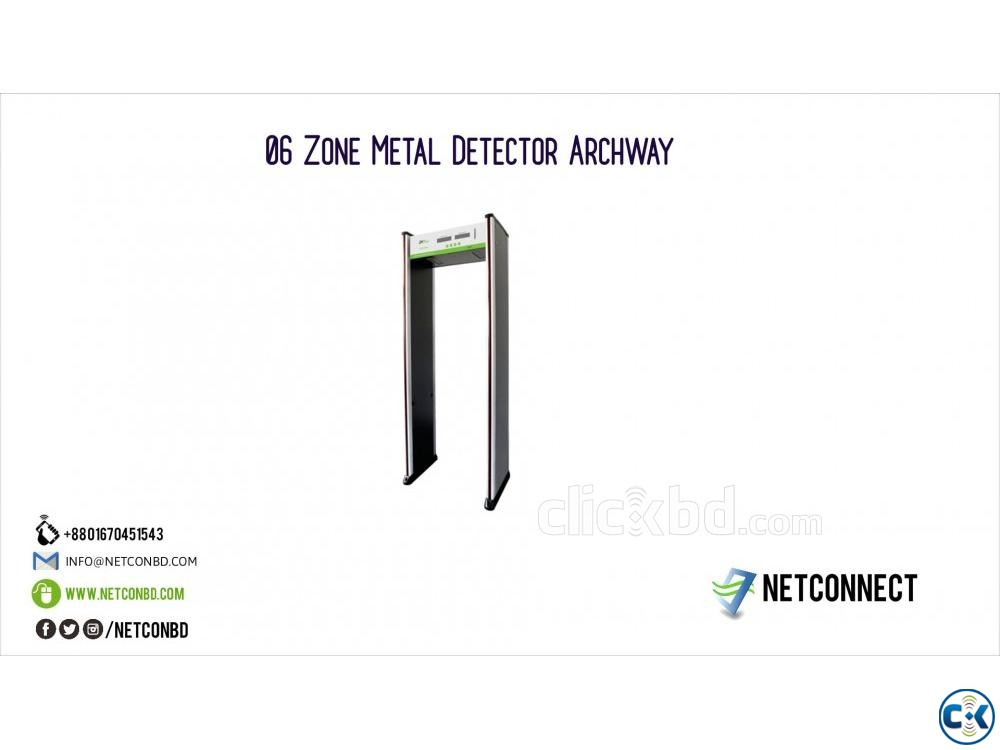 06 Zone Metal Detector Archway Gate Sales and Installation | ClickBD large image 0