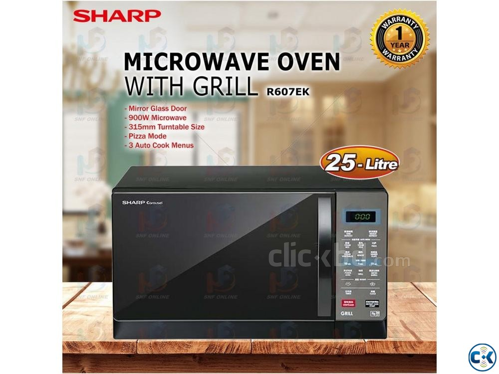SHARP R607EK 25L MICROWAVE OVEN GRILL TOUCH AND CONVENIENCE | ClickBD large image 0