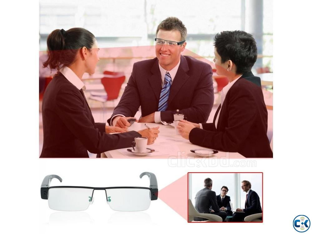 Spy Camera SunGlass 1080p | ClickBD large image 4