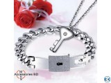 Couple Jewelry Sets Lock Key - Bracelet Locket