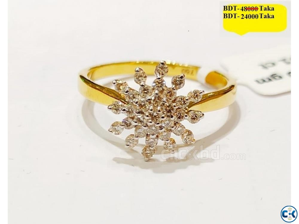 Diamond with Gold Ring 50 OFF | ClickBD large image 0