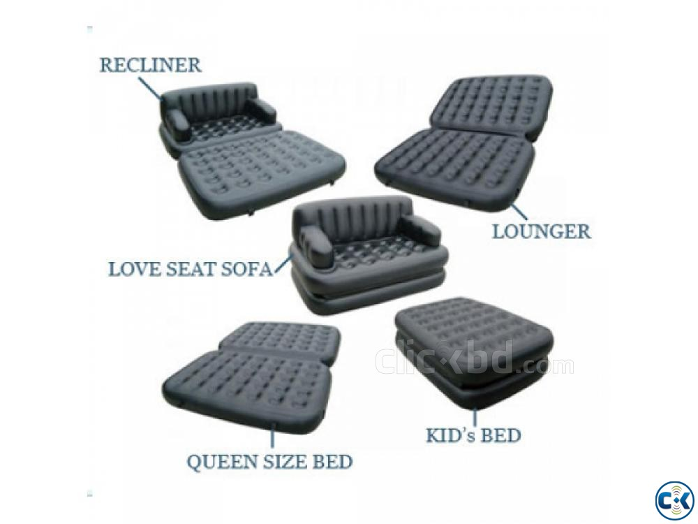 5 in 1 Air Bed Sofa Cum Bed New Version 01611288488 | ClickBD large image 4