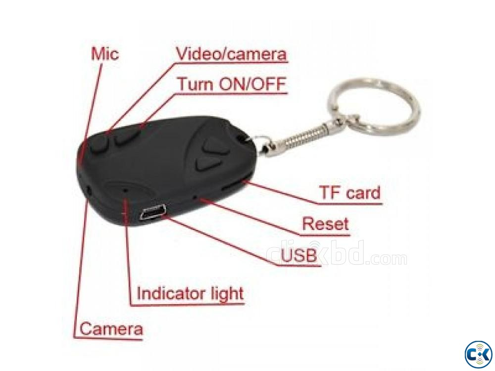 Spy Camera Key Ring Video Recorder | ClickBD large image 1