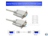 1.5m Serial cable RS232 9-Pin Female to Female DB9 9-Pin