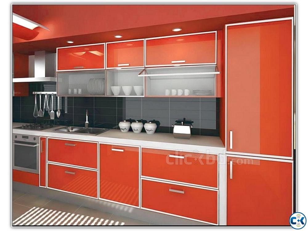 Kitchen Cabinet Interior Decoration | ClickBD large image 1