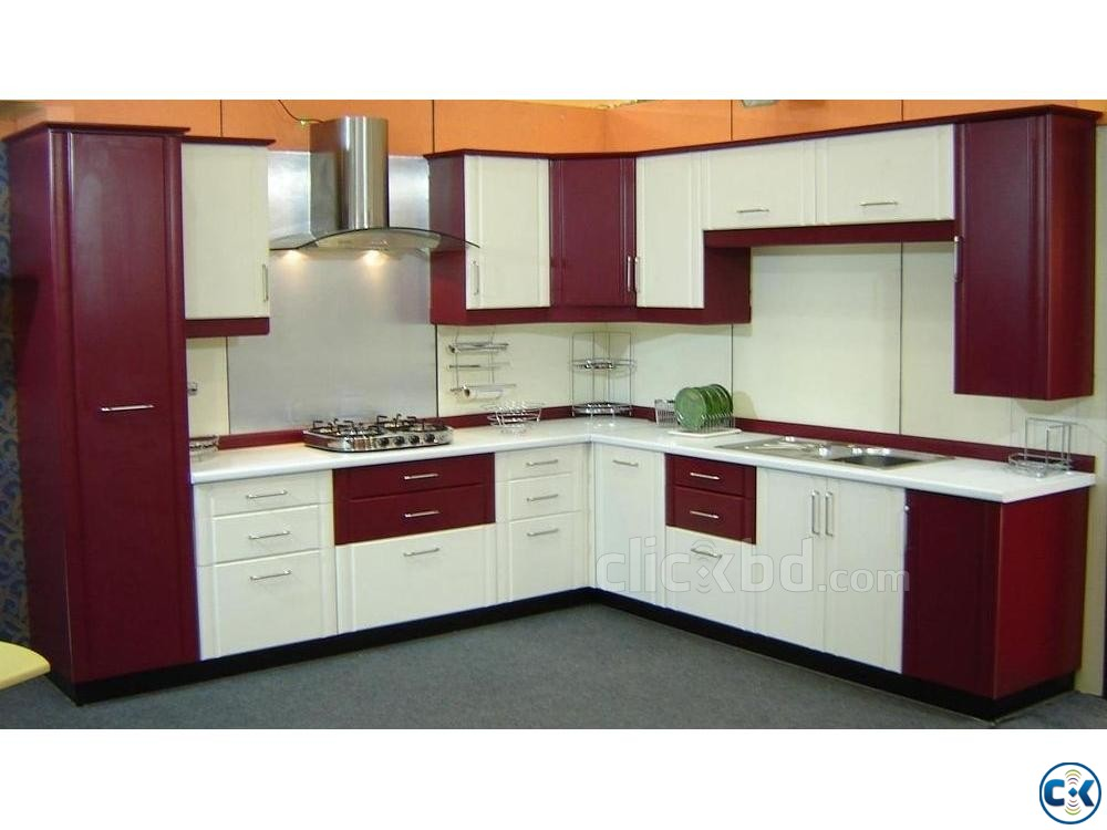Kitchen Cabinet Interior Decoration | ClickBD large image 3