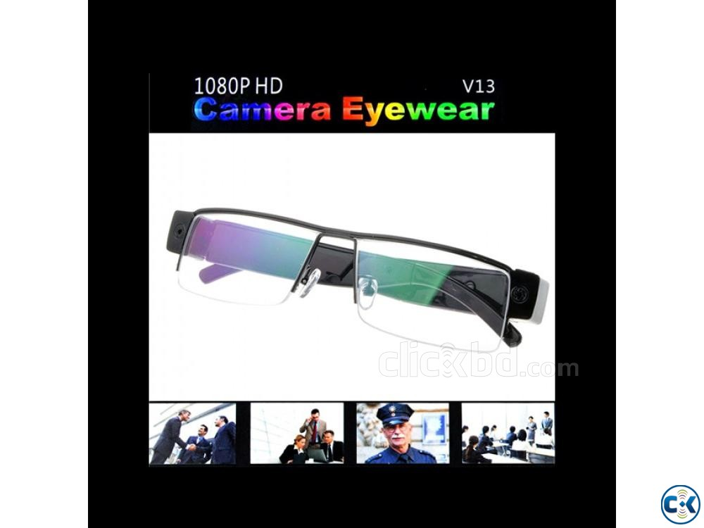 Spy Camera Eye-wear Glasses HD Video with Voice Recorder | ClickBD large image 0