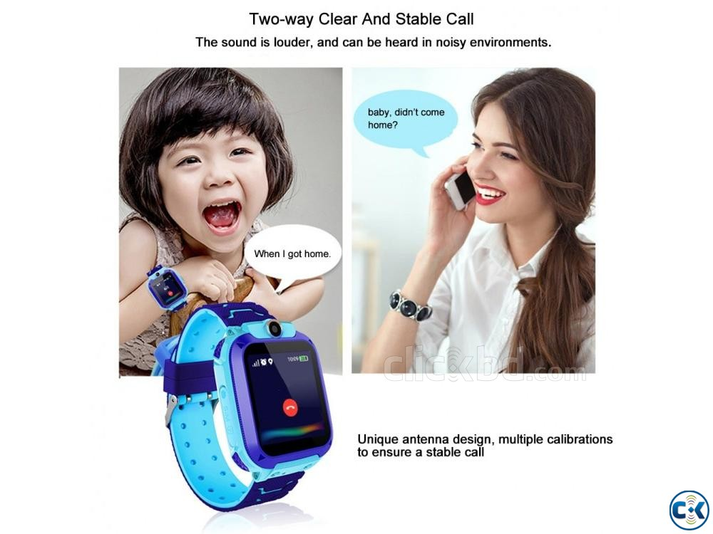 Kid s GPS Tracker Smart Watch for Location Communication | ClickBD large image 0