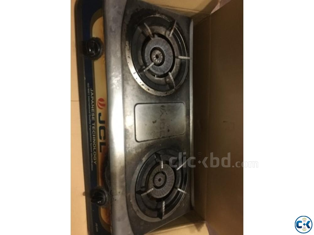 JCL Double burner auto gas stove | ClickBD large image 0