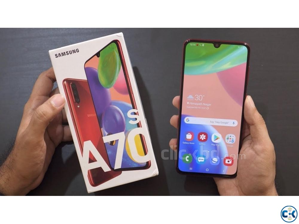 Samsung Galaxy A70s 128GB Black Blue 6GB RAM  | ClickBD large image 1