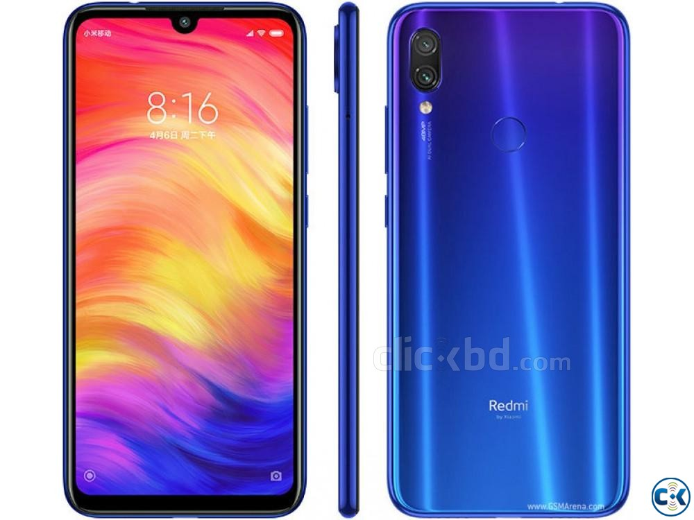 Xiaomi Note 7 Pro 128GB Black Blue White 6GB RAM  | ClickBD large image 1