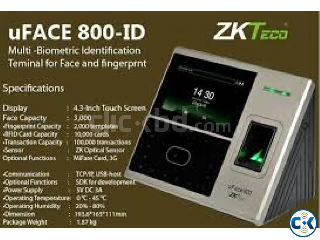 Multi-Biometric Time Attendance and Access Control Terminal | ClickBD large image 0
