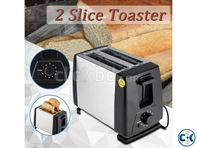 MONDA Electric Automatic 2 Slice Bread Toaster Oven Toaster | ClickBD large image 4