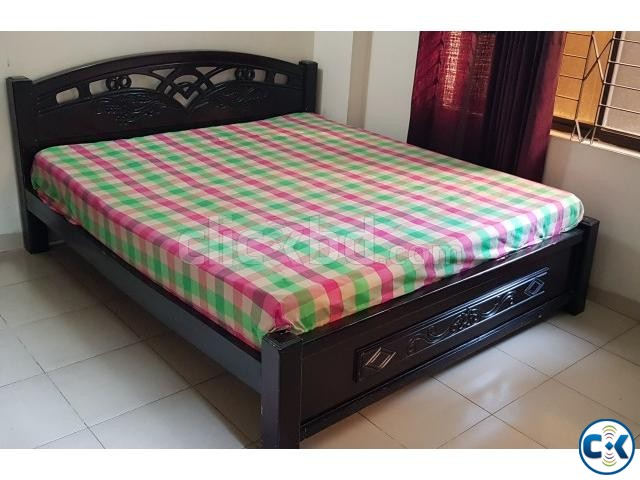 Immediate Move Out Sale - KING SIZE BED WITH MATTRESS | ClickBD large image 0