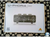 Behringer U-PHORIA UM2 Audiophile 2x2 USB Audio Interface