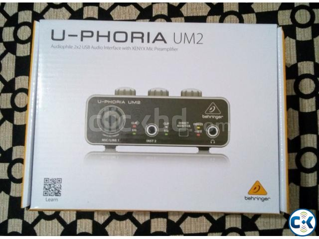 Behringer U-PHORIA UM2 Audiophile 2x2 USB Audio Interface | ClickBD large image 0