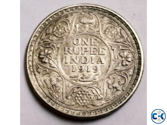 Antique ONE Rupee India 1919 | ClickBD large image 1