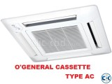 Fujitsu O General 3.0 Ton Cassette Celling Type Energy Save