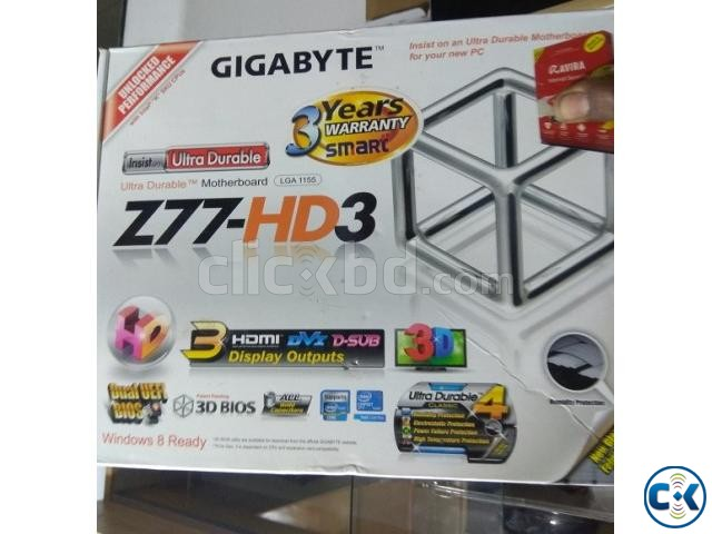 GIGABYTE GA-H77-DS3H Like New With Box Bey Driver Disk | ClickBD large image 2