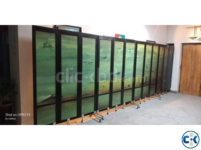 Partition Divider For Hall Room Moving Portable With Print | ClickBD large image 1