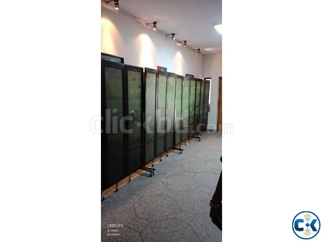 Partition Divider For Hall Room Moving Portable With Print | ClickBD large image 2