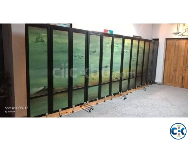 Partition Divider For Hall Room Moving Portable With Print | ClickBD large image 3