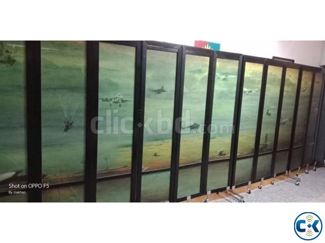 Partition Divider For Hall Room Moving Portable With Print | ClickBD large image 4