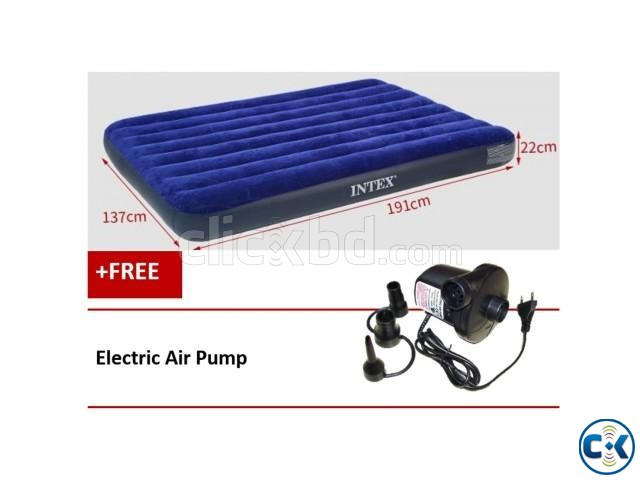 Single Air Bed Camping Mattress with Pump | ClickBD large image 0