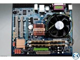 Pentium Dual Core Processor Gigabyte MOBO and Accessories