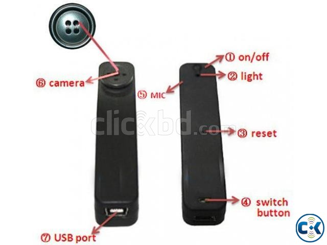 Spy camera Button 32gb builtin | ClickBD large image 3