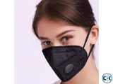 N95 Black Face Mask With Filter Activated Carbon.