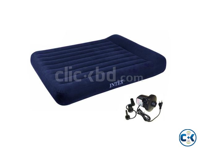 72inch Intex Inflatable Air Bed Air Mattress with Air Pump | ClickBD large image 0