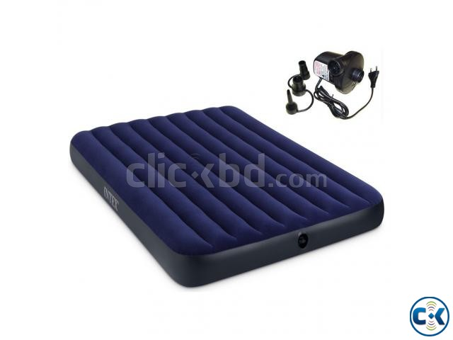 60inch Intex Inflatable Air Bed Air Mattress with Air Pump | ClickBD large image 0