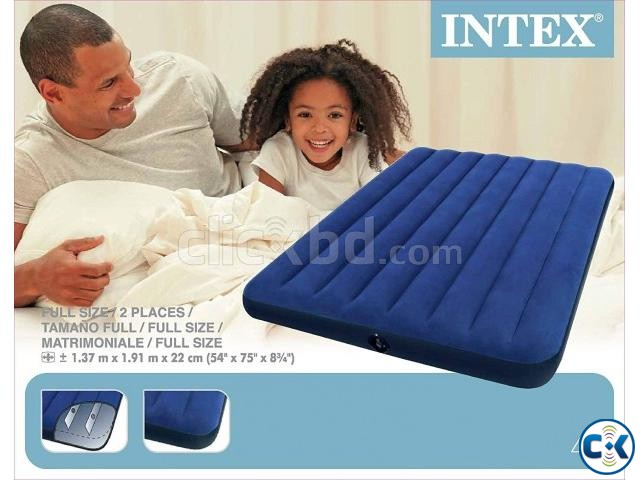 54inch Intex Inflatable Air Bed Air Mattress with Air Pump | ClickBD large image 0