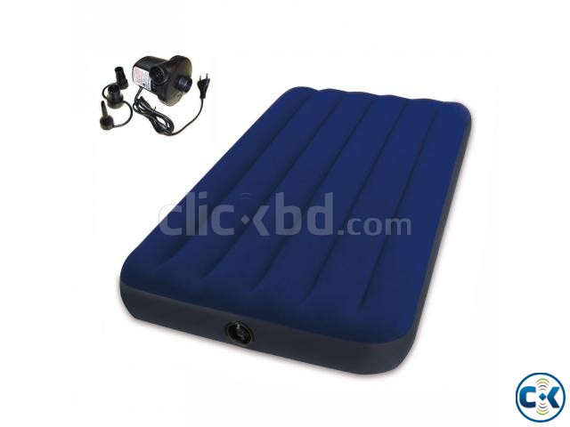 39inch Intex Inflatable Air Bed Air Mattress with Air Pump | ClickBD large image 0