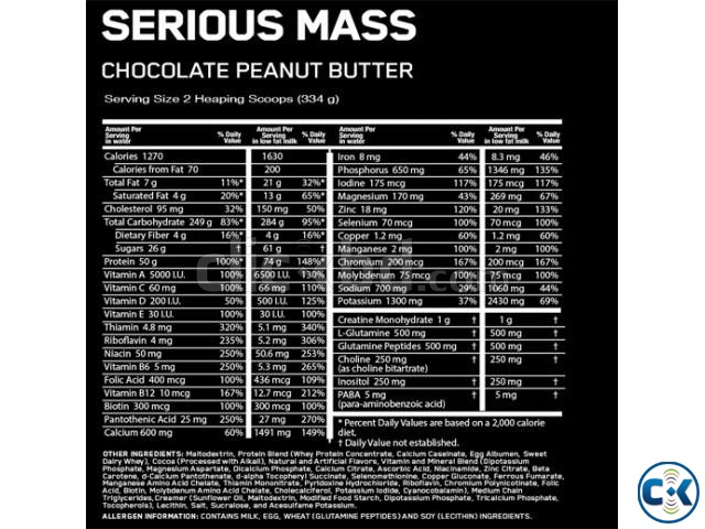 Serious Mass Weight Gainer 6Lbs in Bangladesh | ClickBD large image 1