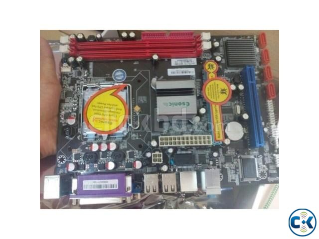 Esonic G41 Motherboard Intel Duel core 2.50 ghz processor | ClickBD large image 0