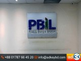 ACP Board Branding Name Plate and Acrylic Top Letter Laser