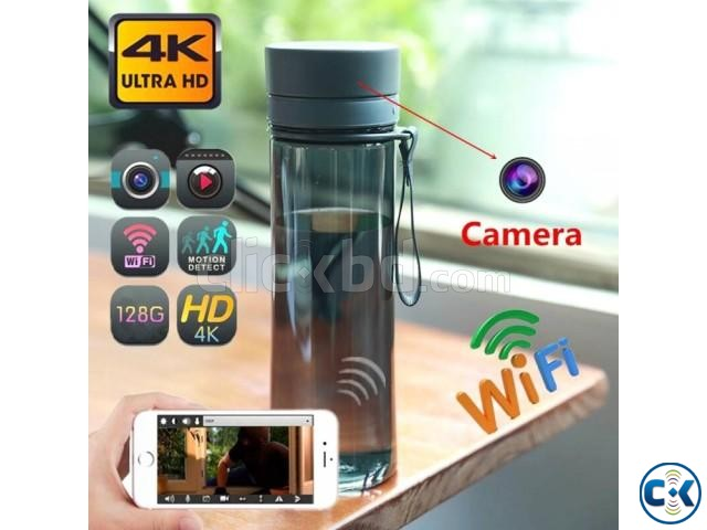 Spy Camera 4K Portable Water Bottle Hidden Live Wifi IP Cam | ClickBD large image 0