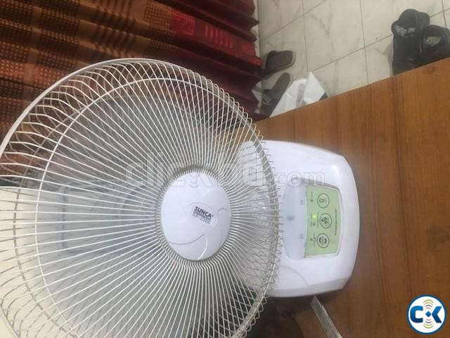 Charger Table Fan | ClickBD large image 0