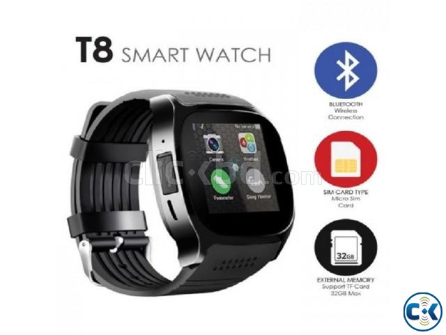 T8 Smartwatch Bluetooth Camera Full Touch | ClickBD large image 1