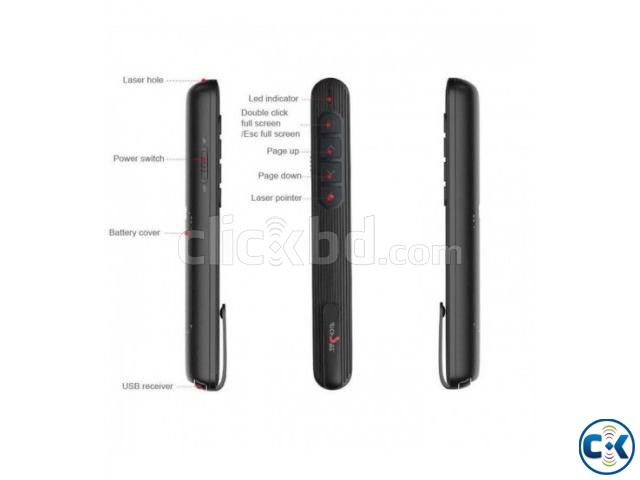 RS02 Wireless Presenter RF 2.4GHz Power point | ClickBD large image 1
