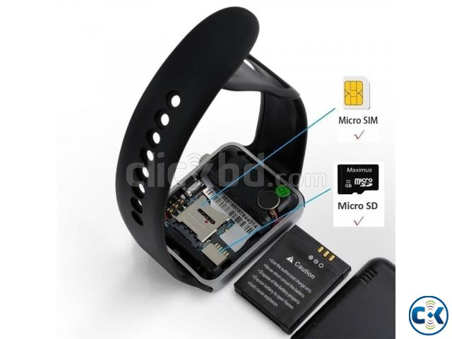 A1 Smart Watch Sim Card Sd Card Bluetooth Black | ClickBD large image 2